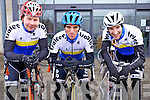 Mark Rael, Paul Lynch and George Doyle, of Tralee Bicycle club who took part in the Lacey Cup Cycle on Sunday morning.