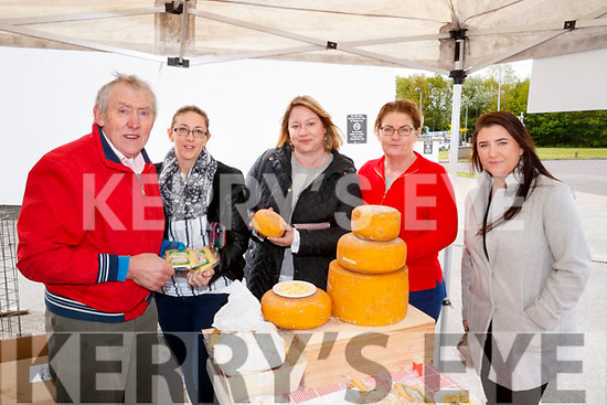 Pictured at the 'Food 4 Thought' event, held at the IT, Tralee North Campus, on Wednesday morning last were l-r: Jim O'Brien (O'Brien's Artisan Farmhouse Cheese, Ballyhahill, Limerick) with Moira Lynch, Mairead Enright, Christina Boland and Stephanie Somers, all from IT Tralee.
