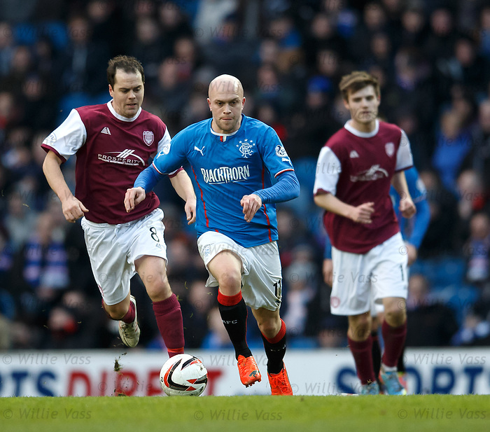 Nicky Law on the attack