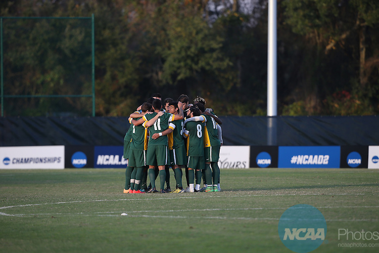 05 DEC 2015:  The Division II Men's Soccer Championship is held at the Ashton Brosnaham Soccer Complex in Pensacola, FL.  Pfeiffer defeated Cal Poly Pomona 4-0 for the national title.  Jason Parkhurst/NCAA Photos