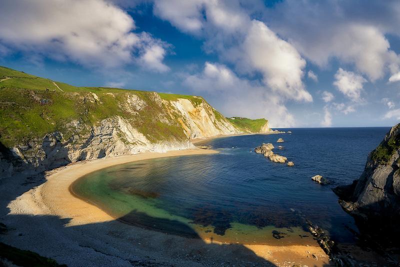 Man O War Beach and bay. Dorset. Jurassic Coast, England