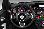 Car pictures of steering wheel view of a 2020 Fiat 500 S8-Star 3 Door Hatchback Steering Wheel