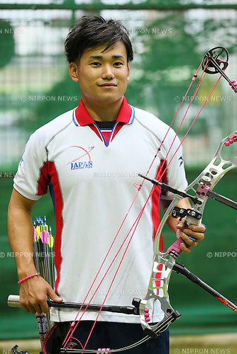 Yuta Yamamoto (JPN), <br /> JULY 18, 2015 - Archery : <br /> Japan National Team Training <br /> for The World Archery Championships 2015 <br /> at JISS Archery Field, Tokyo, Japan. <br /> (Photo by YUTAKA/AFLO SPORT)