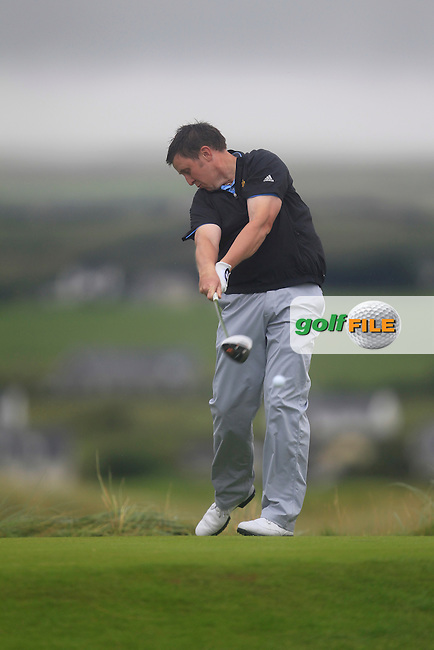 Paul O'Hara (Kilkenny) on the 2nd tee during the South of Ireland Amateur Open Championship Final at Lahinch Golf Club  31th July 2013 <br /> Picture:  Thos Caffrey / www.golffile.ie