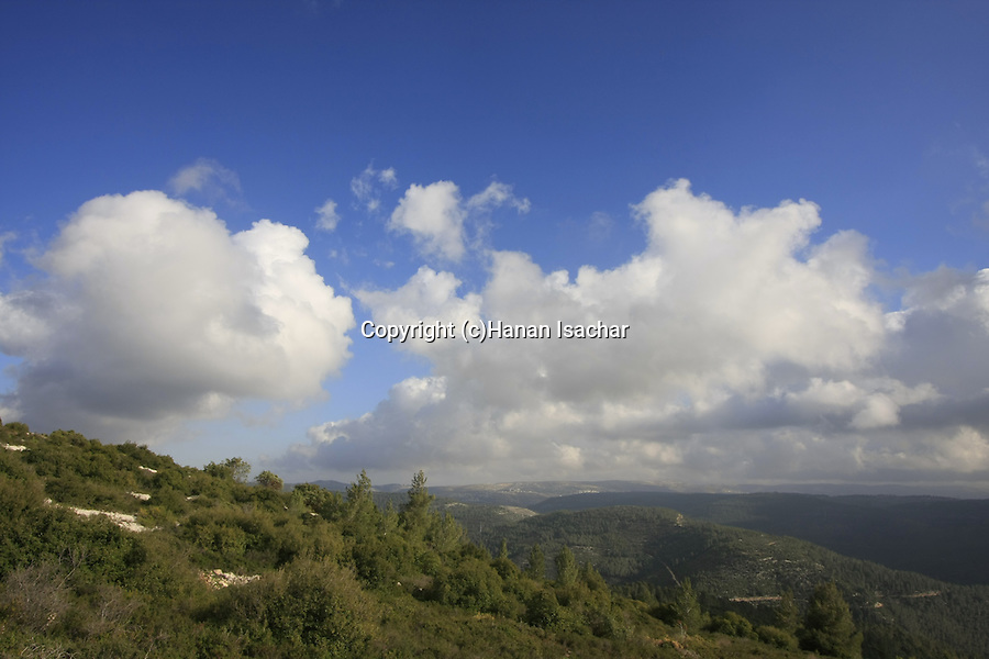 Israel, a view of Jerusalem Mountains from Har Hatayasim