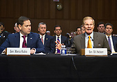 "United States Senators Marco Rubio (Republican of Florida), left, and Bill Nelson (Democrat of Florida), right,  testify before the US Senate Committee on the Judiciary during ""an oversight hearing to examine the Parkland shooting and legislative proposals to improve school safety"" on Capitol Hill in Washington, DC on Wednesday, March 14, 2018.<br /> Credit: Ron Sachs / CNP"