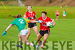 Shonagh Fitzpatrick  Southern Gaels tackles Noreen Murphy Rathmore during the Randles Brothers Nissan SC final  in Killarney on Sunday