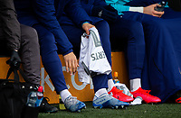 Leeds United's Tyler Roberts takes his seat on the bench<br /> <br /> Photographer Alex Dodd/CameraSport<br /> <br /> The EFL Sky Bet Championship - Hull City v Leeds United - Saturday 29th February 2020 - KCOM Stadium - Hull<br /> <br /> World Copyright © 2020 CameraSport. All rights reserved. 43 Linden Ave. Countesthorpe. Leicester. England. LE8 5PG - Tel: +44 (0) 116 277 4147 - admin@camerasport.com - www.camerasport.com