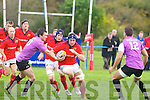 Munster's Tommy O'Donnell gets by the Aberavon's Jamir Davies in the .British and Irish Cup at O'Dowd park, Tralee on Saturday.