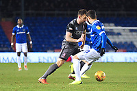 Lincoln City's Neal Eardley vies for possession with Oldham Athletic's Mohamed Maouche<br /> <br /> Photographer Andrew Vaughan/CameraSport<br /> <br /> The EFL Sky Bet League Two - Oldham Athletic v Lincoln City - Tuesday 27th November 2018 - Boundary Park - Oldham<br /> <br /> World Copyright © 2018 CameraSport. All rights reserved. 43 Linden Ave. Countesthorpe. Leicester. England. LE8 5PG - Tel: +44 (0) 116 277 4147 - admin@camerasport.com - www.camerasport.com