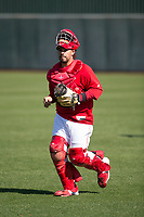 Los Angeles Angels catching coordinator Jose Molina during Spring Training Camp on February 22, 2018 at Tempe Diablo Stadium in Tempe, Arizona. (Zachary Lucy/Four Seam Images)