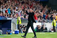 Atletico de Madrid's coach Diego Pablo Cholo Simeone celebrates goal during Champions League 2017/2018, Group C, match 2. September 27,2017. (ALTERPHOTOS/Acero)<br /> Champions League 2017/2018 <br /> Atletico Madrid - Chelsea <br /> Foto Alterphotos / Insidefoto