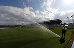 Hartlepool United 0 Sunderland 3, 20/07/2016. Victoria Park, Pre Season Friendly. Groundsman watering the pitch before the game. Photo by Paul Thompson.