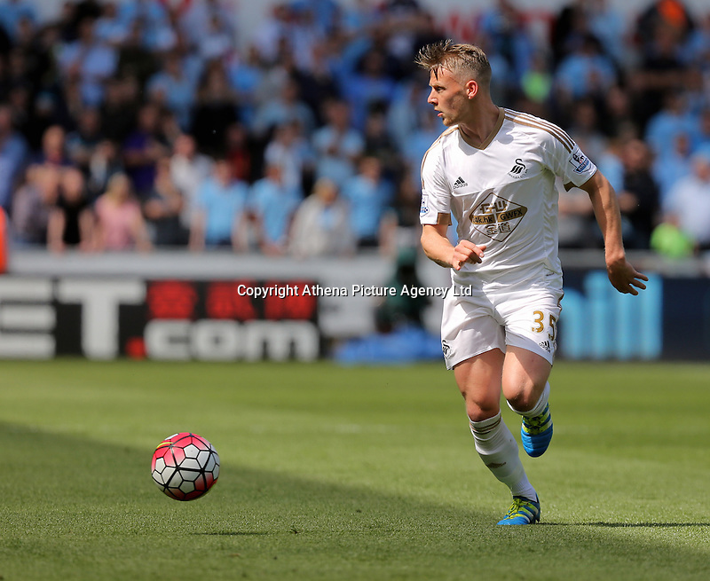 during the Swansea City FC v Manchester City Premier League game at the Liberty Stadium, Swansea, Wales, UK, Sunday 15 May 2016