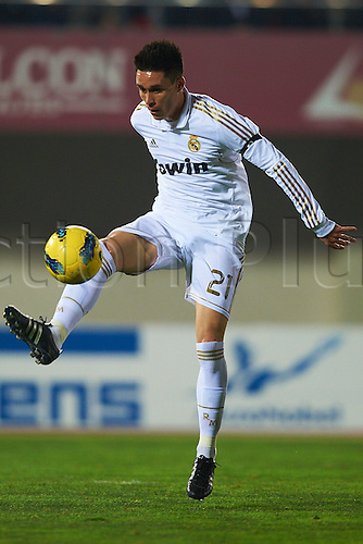 14.01.2012 Mallorca, Spain. The La Liga football match between RCD Mallorca and Real Madrid. Image shows   Jose Callejon (Real Madrid CF)