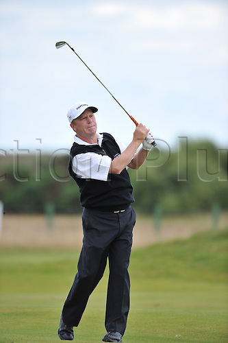 25/07/2010  Jeff Sluman (USA) in action in the final round of the Mastercard British Senior Open Golf Championship on the Championship Course at Carnoustie, Angus, Scotland