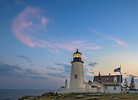 Lincoln County, Maine: Pemaquid Point Lighthouse (1835) in evening light
