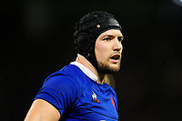 François Cros of France during the Guinness Six Nations Championship Round 3 match between Wales and France at the Principality Stadium in Cardiff, Wales, UK. Saturday 22 February 2020