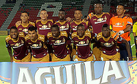 IBAGUÉ -COLOMBIA, 24-02-2016. Jugadores de Deportes Tolima posan para una foto previo al encuentro con Boyacá Chicó FC por la fecha 6 de la Liga Aguila I 2016 jugado en el estadio Manuel Murillo Toro de la ciudad de Ibagué./ Players of  Deportes Tolima pose to a photo prior tha match agaisnt Boyaca Chico FC for the date 6 of the Aguila League I 2016 played at Manuel Murillo Toro stadium in Ibague city. Photo: VizzorImage / Juan Carlos Escobar / Str