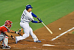 23 July 2011: Los Angeles Dodgers shortstop Rafael Furcal in action against the Washington Nationals at Dodger Stadium in Los Angeles, California. The Dodgers rallied to defeat the Nationals 7-6 on Furcal's walk-off, RBI double in the bottom of the 9th inning. Mandatory Credit: Ed Wolfstein Photo