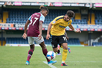 Eren Kinali, Southend United, gets the better of the challenge from Ossama Ashley, West Ham U21's during Southend United vs West Ham United Under-21, EFL Trophy Football at Roots Hall on 8th September 2020