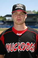 June 16, 2009:  Josh Squatrito of the Batavia Muckdogs poses for a head shot before the teams practice at Dwyer Stadium in Batavia, NY.  The Batavia Muckdogs are the NY-Penn League Single-A affiliate of the St. Louis Cardinals.  Photo by:  Mike Janes/Four Seam Images