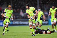 Josh Beaumont of Sale Sharks in possession. Aviva Premiership match, between Saracens and Sale Sharks on February 25, 2017 at Allianz Park in London, England. Photo by: Patrick Khachfe / JMP