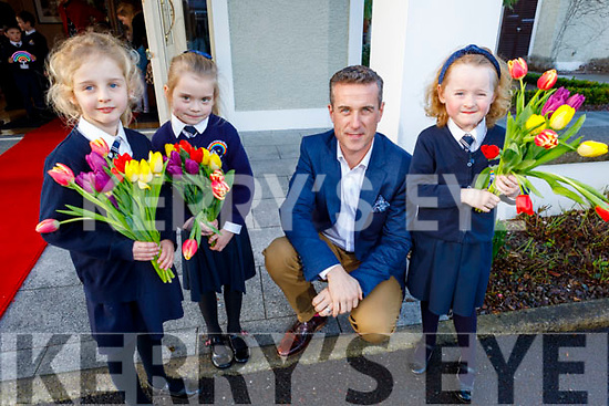 Sadie O'Donovan, Ava Cronin, Padraig McGillcuddy and Siún O'Connor launching the Caherleaheen NS fundraising BBQ in the Ballygarry House Hotel on Friday. <br /> <br /> (The event will be held on Friday, March 13th in the Ballygarry House Hotel and is a fundraiser for theHugh's House charity which works with both Temple Street and The Rotunda hospitals, providing accommodation for the families of sick children.<br /> The Caherleaheen NS Parents Association's aim to raise funds for Hugh's House in support of parents Jenny Pye and Alex O'Donovan who are parents to Jake, who is in Temple Street for the last year and his big sister Sadie is in senior infants in Caherleaheen NS.)