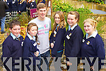 Chris O'Gorman, Philomena Hickey, Hugh Stuart, Cliodhna Griffin, Megan Fealey and Sabrina Loughnane students from Listowel Community College, enjoying the KDYS Youth Day on Friday last..