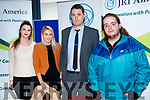 Rebecca Kelly, Rachel O'Sullivan, JRI America, Mike Moore, JRI America and Brian Kerins at the JRI America stand at the Careers Fair at Tralee IT on Wednesday.