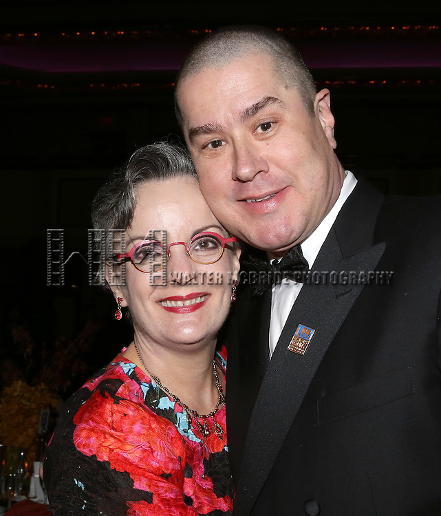 Jennifer Smith; Merwin Foard  inside the Celebration Gala Party honoring the 100th Anniversary of Actors' Equity Association at the Hilton Hotel in New York City on June 17, 2013