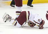 Brian Gibbons (BC - 17) - The Boston College Eagles defeated the University of Massachusetts-Amherst Minutemen 5-2 on Saturday, March 13, 2010, at Conte Forum in Chestnut Hill, Massachusetts, to sweep their Hockey East Quarterfinals matchup.