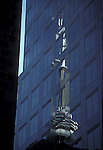 Toronto CN Tower reflection architecture buildings downtown Ontario Canada<br />