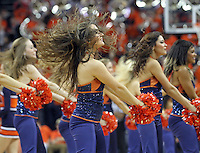 Virginia  dancers perform during an NCAA basketball game Saturday Jan. 18, 2014 in Charlottesville, VA. Virginia defeated Florida State 78-66.