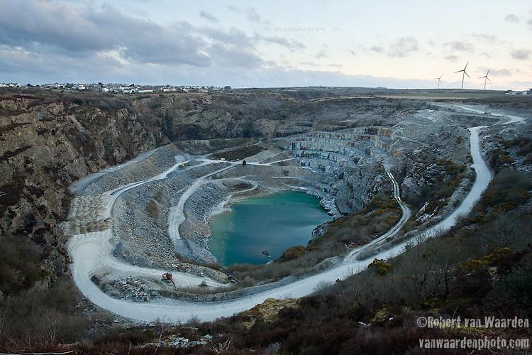 The slate quarry in Delabole, UK.
