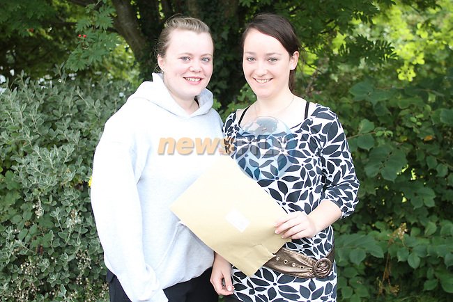 Denise Kelly and Una Brennan after getting their Leaving Certificate Results at Greenhills School. ..Picture Jenny Matthews/Newsfile.ie