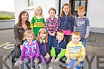 First Day for the new Juniors at Foilmore NS pictured here on Thursday last were front l-r; Karen Quirke, Caoimhe Hurley, Enda Sheehan, Aodhán O'Sullivan, back l-r; Norah Golden(Teacher/Principal), Rachel Fogarty, Daniel Moriarty, Meabh O'Sullivan & Kevin Griffin.