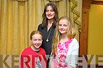 Kate Kerins, Marie O'Connor and Grace O'Connor at the Gaelscoil Chiarrai Fashion Show at the Meadowlands on Thursday