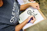 Ole Miss staff identify as many bicycle components as they can in a bike maintenance class as part of Staff Appreciation Week. Photo by Robert Jordan/Ole Miss Communications
