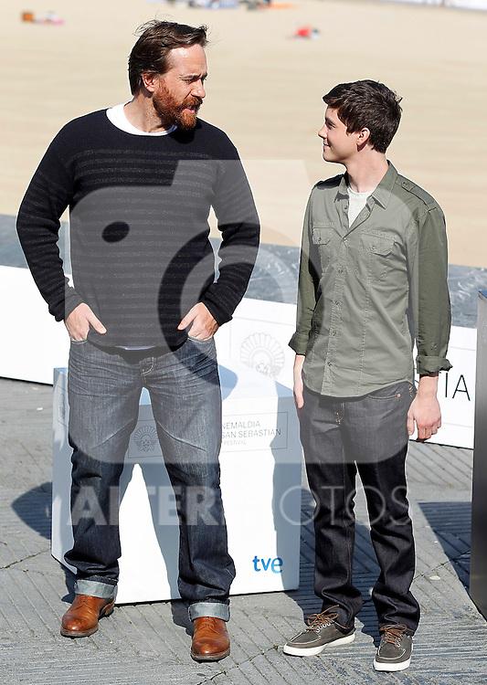 Actors Matthew Macfadyen (l) and Logan Lerman during the 59th San Sebastian Donostia International Film Festival - Zinemaldia.September 23,2011.(ALTERPHOTOS/ALFAQUI/Acero)