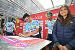 Delko Marseilles Provence KTM team at sign on before the start of Stage 1 of Il Giro di Sicilia running 165km from Catania to Milazzo, Italy. 3rd April 2019.<br /> Picture: LaPresse/Massimo Paolone | Cyclefile<br /> <br /> <br /> All photos usage must carry mandatory copyright credit (© Cyclefile | LaPresse/Massimo Paolone)