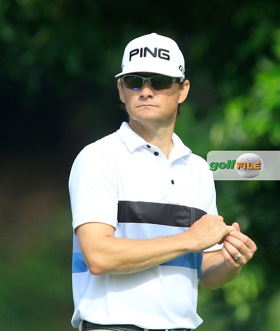 Heath Slocum (USA) on the 7th tee during Round 4 of the CIMB Classic in the Kuala Lumpur Golf &amp; Country Club on Sunday 2nd November 2014.<br /> Picture:  Thos Caffrey / www.golffile.ie
