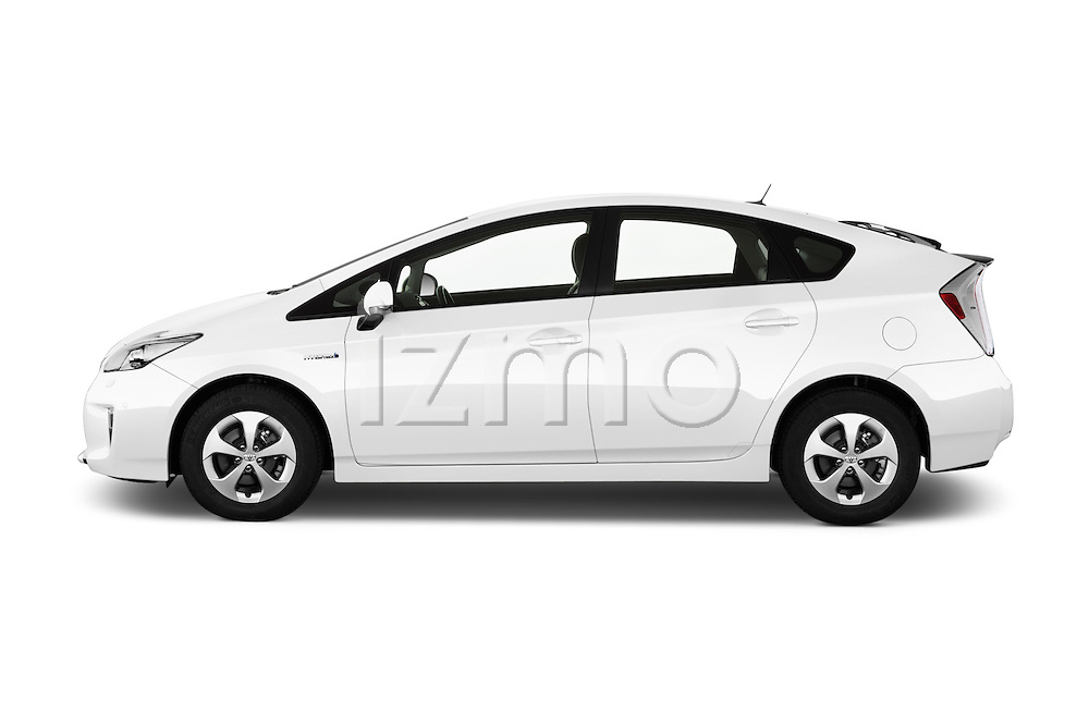 Car Driver side profile view of a 2015 Toyota Prius Comfort 5 Door Hatchback Side View