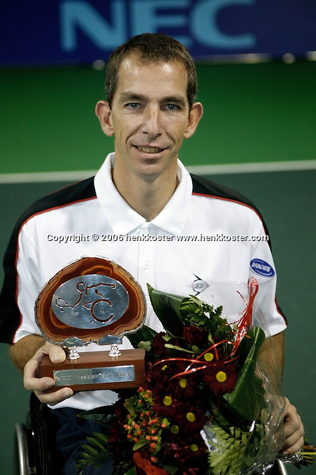 19-11-06,Amsterdam, Tennis, Wheelchair Masters, Robin Ammerlaan winner of the Masters 2006