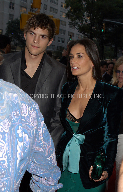 "Ashton Kutcher and Demi Moore arriving at the New York Premiere of ""Charlie's Angels: Full Throttle."" New York, June 25, 2003...Please byline: NY Photo Press.   ..*PAY-PER-USE*      ....NY Photo Press:  ..phone (646) 267-6913;   ..e-mail: info@nyphotopress.com"