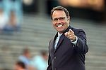 09 October 2014: Soccer broadcaster Dean Linke. The University of North Carolina Tar Heels hosted the Wake Forest University Demon Deacons at Fetzer Field in Chapel Hill, NC in a 2014 NCAA Division I Women's Soccer match. UNC won the game 3-0.