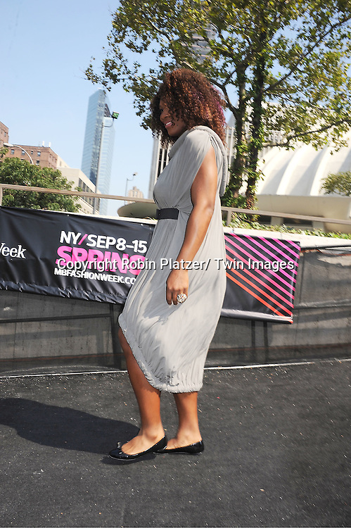 Serena Williams attending Mercedes-Benz Fashion Week Spring 2011 Fashion Shows on September 13, 2011 in Lincoln Center in New York City. .
