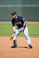 Salem Red Sox first baseman Nick Longhi (21) on defense against the Winston-Salem Dash at BB&T Ballpark on April 17, 2016 in Winston-Salem, North Carolina.  The Red Sox defeated the Dash 3-1.  (Brian Westerholt/Four Seam Images)