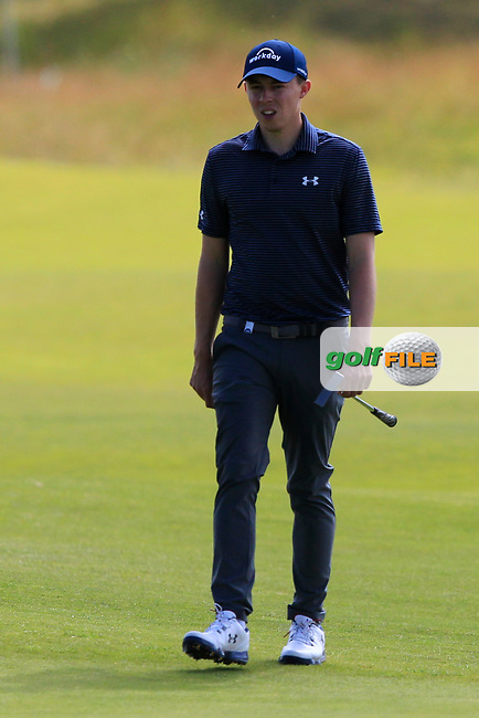 Matthew Fitzpatrick (ENG) on the 2nd during Round 4 of the Aberdeen Standard Investments Scottish Open 2019 at The Renaissance Club, North Berwick, Scotland on Sunday 14th July 2019.<br /> Picture:  Thos Caffrey / Golffile<br /> <br /> All photos usage must carry mandatory copyright credit (© Golffile | Thos Caffrey)