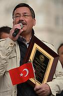 October 2, 2011  (Washington, DC)  Melih Gökcek, Mayor of Ankara, Turkey attended the Turkish Festival in Washington.    (Photo by Don Baxter/Media Images International)